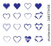 abstract hearth icon set   Shutterstock .eps vector #268373438
