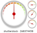dial meter templates with... | Shutterstock .eps vector #268374458