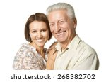 happy father and daughter on... | Shutterstock . vector #268382702