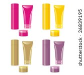 isolated cosmetics set | Shutterstock .eps vector #26839195