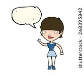 cartoon woman with idea with... | Shutterstock .eps vector #268395842