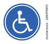 Human On Wheelchair Symbol