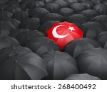 Umbrella With Flag Of Turkey...