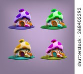 cartoon fairytale houses....