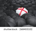 Umbrella With Flag Of Jersey...