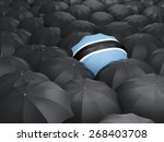 umbrella with flag of botswana... | Shutterstock . vector #268403708