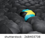 umbrella with flag of bahamas... | Shutterstock . vector #268403738