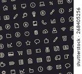 dark seamless business... | Shutterstock .eps vector #268405256