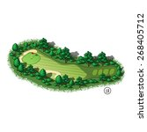 golf course layout with trees... | Shutterstock .eps vector #268405712