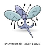 cartoon funny mosquito | Shutterstock .eps vector #268411028