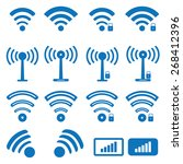wireless icons | Shutterstock .eps vector #268412396