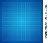 blue graph paper background ... | Shutterstock .eps vector #268413206