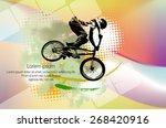 bmx biker. vector | Shutterstock .eps vector #268420916