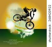 bmx biker. vector | Shutterstock .eps vector #268420922