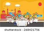 indian political characters... | Shutterstock .eps vector #268421756