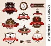 coffee vintage labels design... | Shutterstock .eps vector #268428206