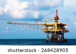 production platform in offshore ... | Shutterstock . vector #268428905