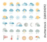 flat icons   weather | Shutterstock .eps vector #268434092