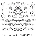 set of page decoration line... | Shutterstock .eps vector #268434716