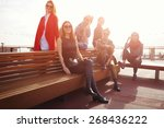 vacation travel holidays wit... | Shutterstock . vector #268436222