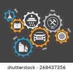 abstract vector illustration of ... | Shutterstock .eps vector #268437356