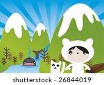 winter wonder little girl... | Shutterstock .eps vector #26844019