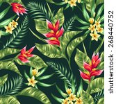 seamless pattern with tropical... | Shutterstock .eps vector #268440752