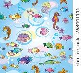 sea  summer  fish  underwater... | Shutterstock .eps vector #268441115