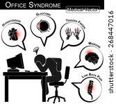 office syndrome   hypertension  ... | Shutterstock .eps vector #268447016