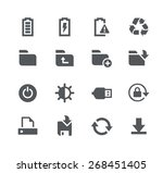 energy and storage    apps... | Shutterstock .eps vector #268451405