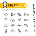 meat   seafood line icons... | Shutterstock .eps vector #268451975