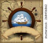 Steering Wheel  Sailing Boat I...