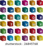 full alphabet  white letters ...   Shutterstock .eps vector #26845768