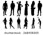 woman and man silhouettes design | Shutterstock .eps vector #268458305