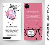 fashion illustration. beauty... | Shutterstock .eps vector #268459142