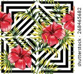 painting floral paradise hand...   Shutterstock .eps vector #268465682