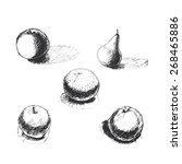 vector background with ink hand ...   Shutterstock .eps vector #268465886