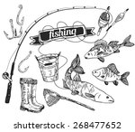 The Drawn Vector Set  Fishing....