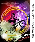 bmx rider. vector design. | Shutterstock .eps vector #268478336