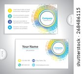 business card   medical circle... | Shutterstock .eps vector #268486115