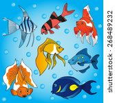 sea fish collection   vector... | Shutterstock .eps vector #268489232