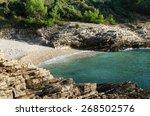 bay plovanije of adriatic sea... | Shutterstock . vector #268502576