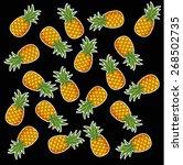 summer pineapple fruit... | Shutterstock .eps vector #268502735