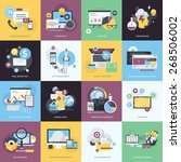 flat design style concept icons ... | Shutterstock .eps vector #268506002