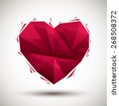 red heart geometric icon made... | Shutterstock .eps vector #268508372