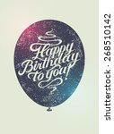 happy birthday to you ... | Shutterstock .eps vector #268510142