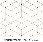 abstract seamless pattern made... | Shutterstock .eps vector #268512962