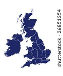 vector map of united kingdom... | Shutterstock .eps vector #26851354