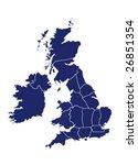 vector map of united kingdom... | Shutterstock .eps vector #26851354
