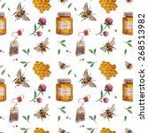 Vector Pattern With Bee ...